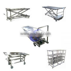 high quality stainless steel mortuary trolley lifter