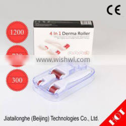Latest 1200/720/300 Needles 4in1 magic derma roller meso roller system