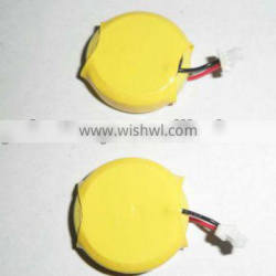 3V CR2354 lithium button cell with wires and connector
