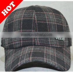 6 panel plaid baseball cap