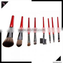Red personalized makeup brush set with high quality PU bag