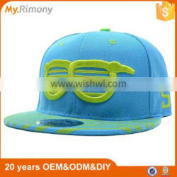 Wholesale Flat Bill 3D Embroidery Snapbacks Custom Adjustable Snapback Hats