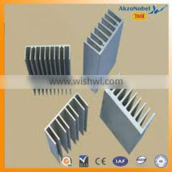 6063-T5 powder coated aluminum heat sink /radiator manufacture