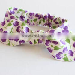 Korean Rural Style Small Flower Print Cloth Bowknot Baby Headband Decorates Hot Selling Hair Accessories