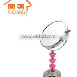 Dressing table acrylic beads decorative makeup mirror for gilrs