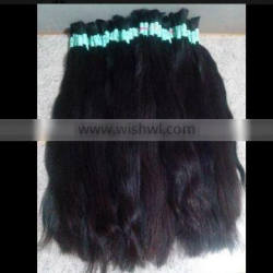 Alibaba express factory price human hair brazilian bulk hair extensions without weft