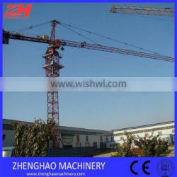 ZHENGHAO tower crane TC5010 with max load 5T and 50M jib length with CE