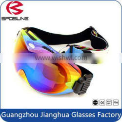 2015 Top sale best goggles for skiing shiny dual lens sports ski goggles