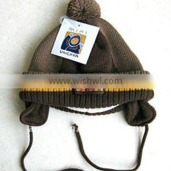 100% acrylic children knitted hat