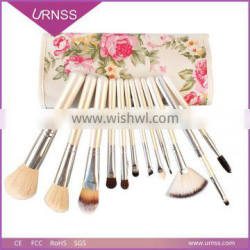 Private label wholesale professional wood synthetic hair makeup brush