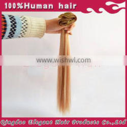 virgin remy clip in human hair extensions 100g/pack Indian human hair extensions blonde hair