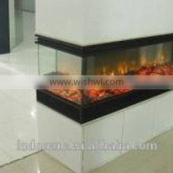 3 sided imitation embedded electric fireplace
