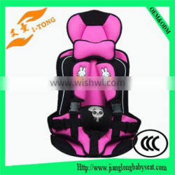 2016 New safety adjustable portable child car seat