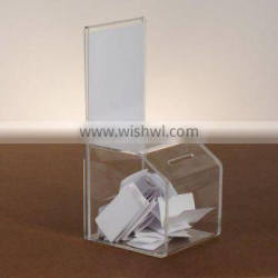 Acrylic Plastic Charity Box with Good Quality and Low Price