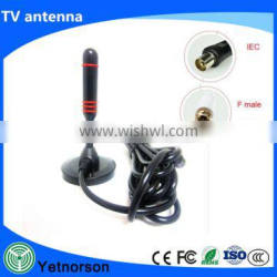 Signal strengthen indoor digital car TV satellite antenna with led amplifer for 174-230/470-862MHz frequency