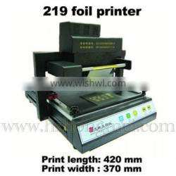 Electric Ptinter TJ 219 Automatic Gold Hot Foil Stamping Printer Machine for Greeting Cards