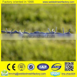 Hot dipped galvanized barbed wire fencing professional supplier