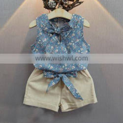 OEM/ODM Baby Girl Clothes Fashion Cartoon Girls Summer Kids Set Clothes Baby Suits Children Clothing Set