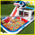 Big kahuna inflatable water slide with pay water pool