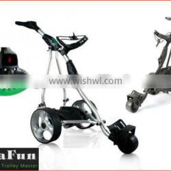 Top Sell Electric Golf Caddy With LCD Digital Handle .Distance .36 Holes Battery .Powakaddy's EZ Fold Design