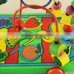 wooden beads car educational toys