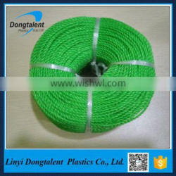 Green Color Twisted PP PE Plastic Rope 3mm PE Rope