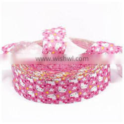Custom colorful printed satin ribbon with your own logo