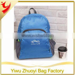 2016 New Fashion design Foldable Simple Backpack