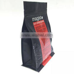 8 side sealed flat bottomed stand packing bag and air hole