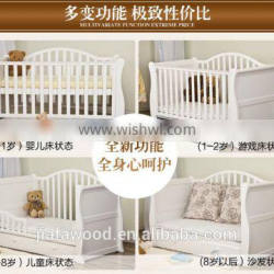 New Zealand pine wood baby bed luxury baby crib Quality Choice