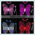 Multicolor Kids Halloween Double Layer Butterfly Fairy Wings Magic Wand Headband Costume Set/Birthday Party Supply