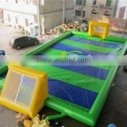 china supplier durable inflatable football field/sport game inflatable human foosball/Popular customized inflatable soccer field