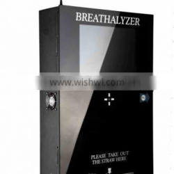 Safety smart vending breathalyzer with bill operated