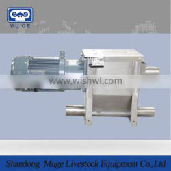 Drive system motor for pig feeding system