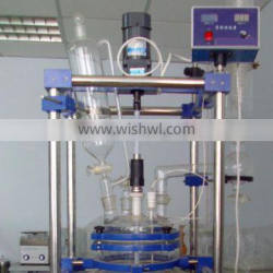 Toption Jacketed Glass ReactorS with Reflux apparatus for Herbal Extracts