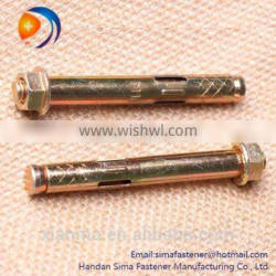 Sleeve anchor bolt type with hex flange nut