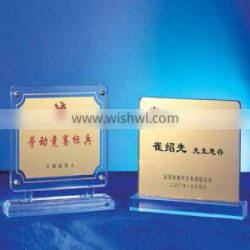 new design crystal clear acrylic trophy award design made in China