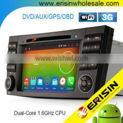 "Erisin ES2501B 7"" Android 4.4.4 Car Radio DVD CD Player for Mercedes W219"