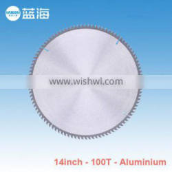 14''-100T Tungsten Carbide Tipped Brazed TCT Saw Blade for Cutting Alumium