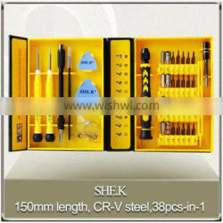 High precision 38pcs-in-1 screwdriver set mobile repair tools Quality Choice