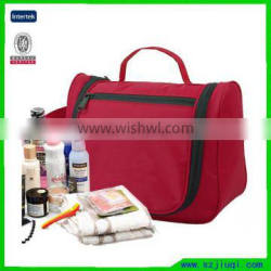 New arrival portable multi-function hanging toiletry bag polyester travel cosmetic bag