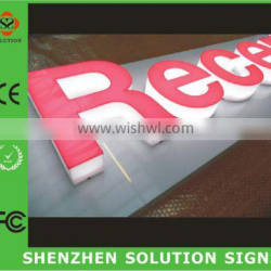 OEM illuminated channel led metal storefront signs