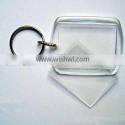 rectangle clear promotional acrylic keychain