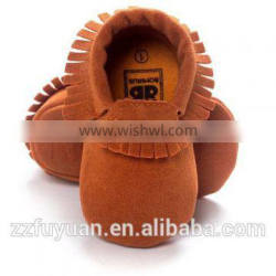 baby soft soled toddler tassels shoe