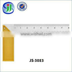 Made in China clear lines yellow plastic seat square ruler