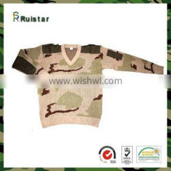 Best V neck 50%Wool 50%Arylic Military Camouflage Men Knitwear