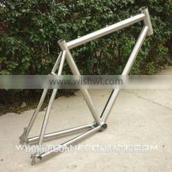 Titanium Cyclocross Bike Frame 44mm Headtube/PF30/Di2 Cable Rounting/4 Seatube Slots/Disc Brake/Rack and Fender Mounts