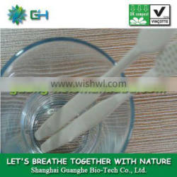 100% compostable PLA hotel toothbrush and toothpaste in one