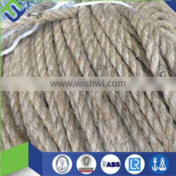 100% sisal 6mm rope, 3 strand twisted sisal fiber rope for decoration