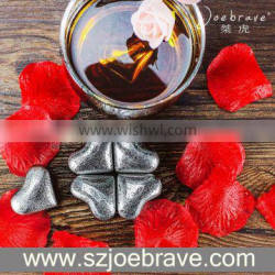 2016 New Products Heart Shape Stainless Steel whiskey Stones,Wine Cooler,Reusable Ice Cubes